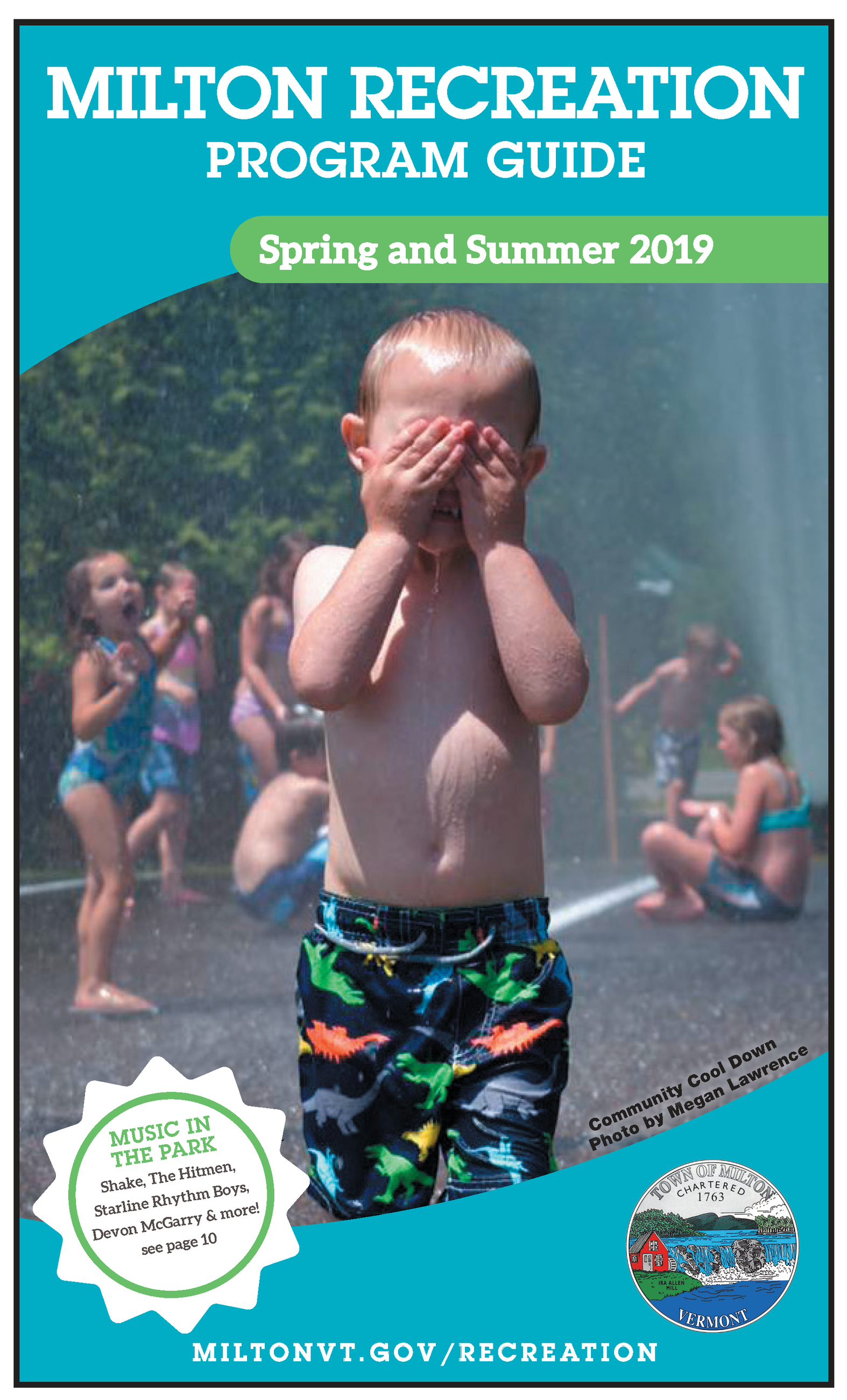 Program Guide Cover with Little Boy Playing in Water